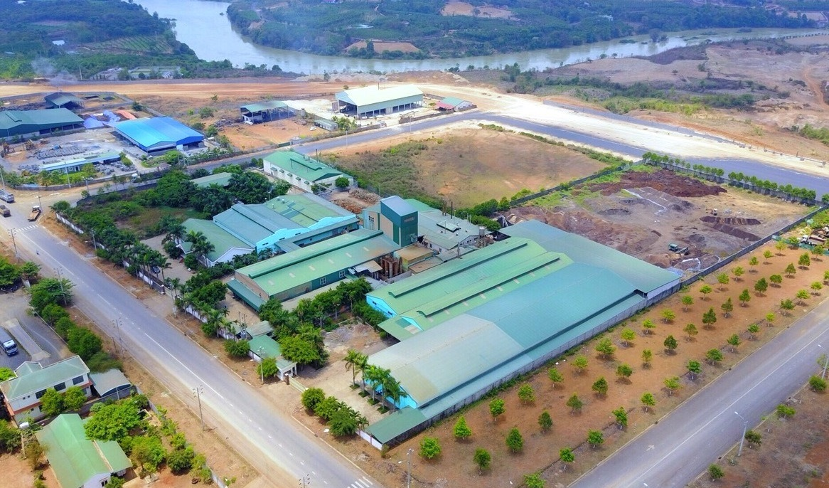 Nhà máy chế biên cà phê hòa tan của An Thái tại KCN Hòa Phú Tỉnh Daklak